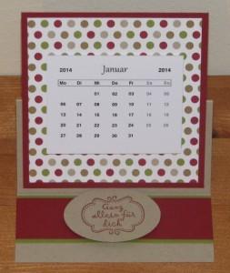 mini-kalender easel