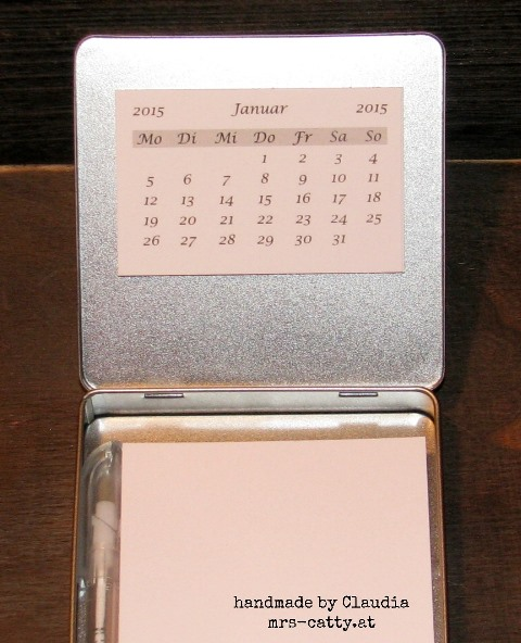 Minikalender in Schokodose innen 2