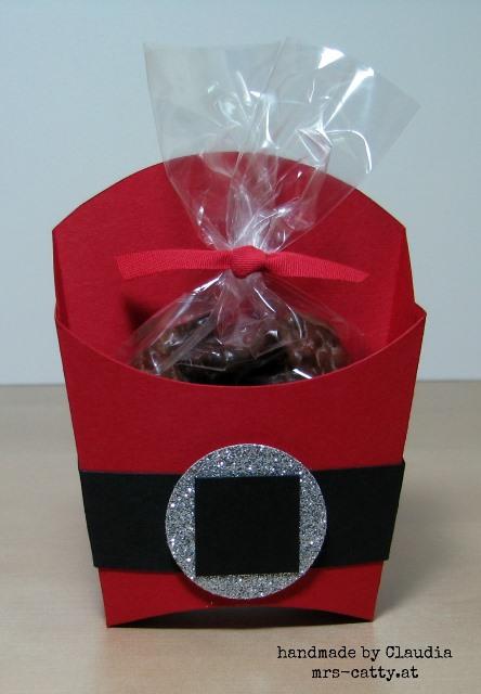 Pommesbox Weihnachtsmann