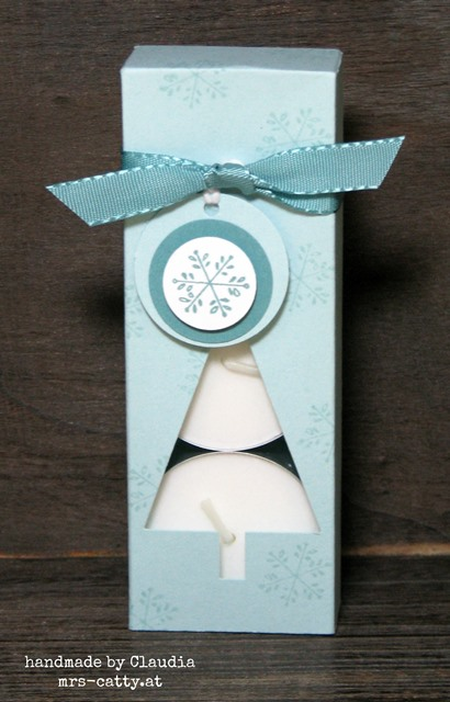 Teelichtverpackung Tannenbaum