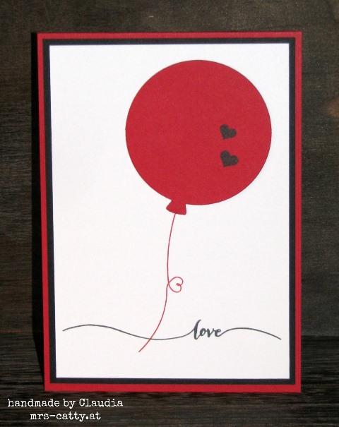 Eine Valentinskarte