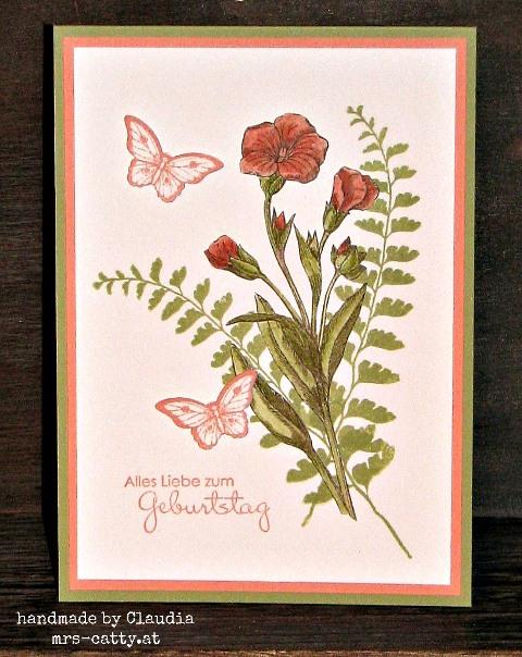 Schmetterlingsgruß zum Geburtstag 1