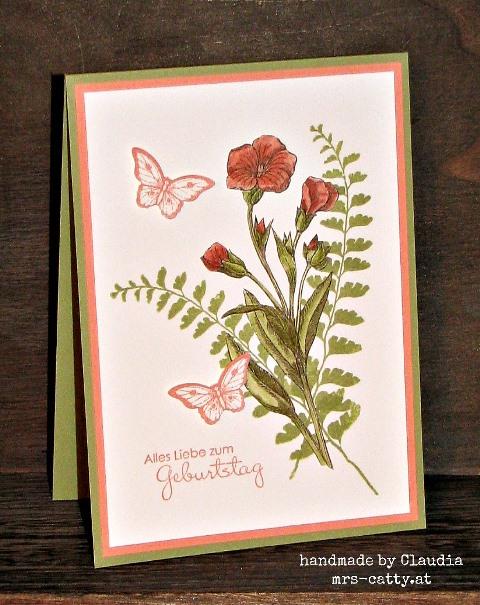 Schmetterlingsgruß zum Geburtstag 2