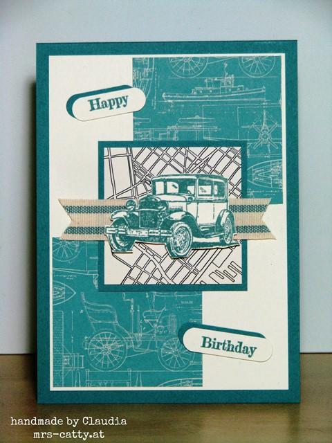 Männer-Geburtstagskarte in Lagunenblau