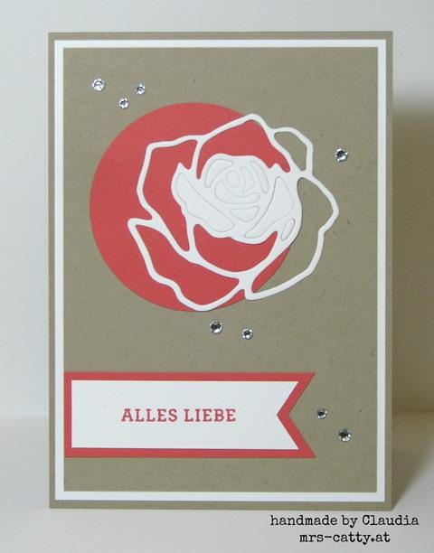 Eine Rose zum Geburtstag