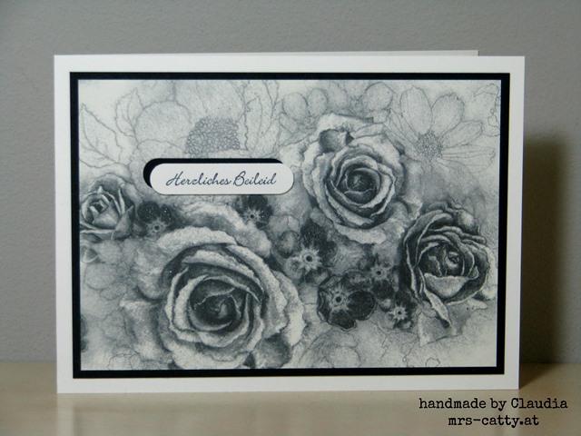 Eine Trauerkarte mit dem DP Zeitlos elegant 1