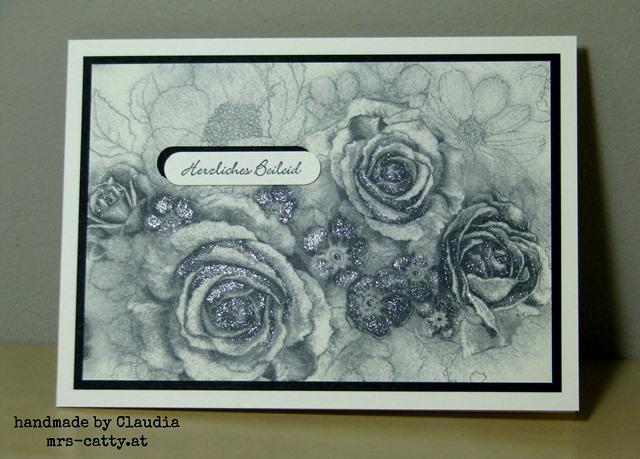 Eine Trauerkarte mit dem DP Zeitlos elegant 2