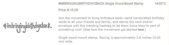 #imbringingbirthdaysback SU