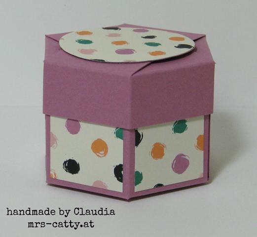 Sechseckbox mit Deckel 1