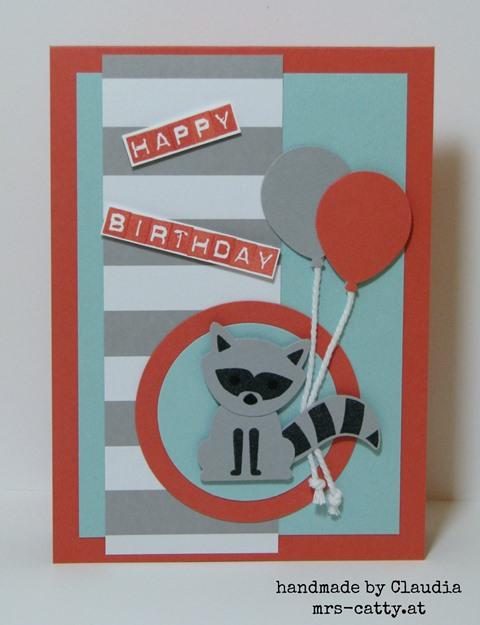Der Waschbär wünscht Happy Birthday 2