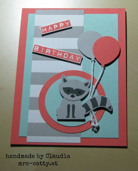 Der Waschbär wünscht Happy Birthday 3