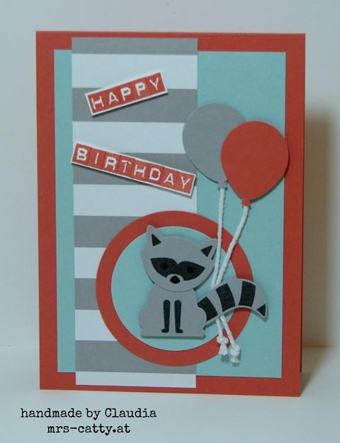 Der Waschbär wünscht Happy Birthday