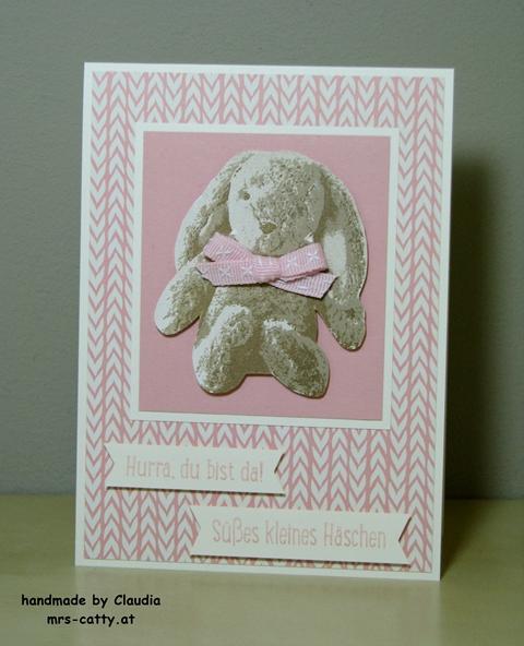 Louisa 1, Stampin`Up!, Süßes Häschen, Baby