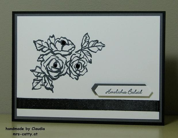 Trauerkarte, Stampin`Up!, Blütentraum 1
