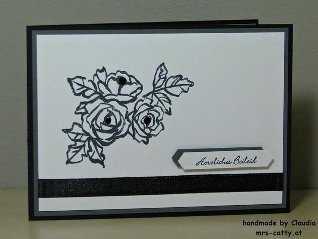 Trauerkarte, Stampin`Up!, Blütentraum 2