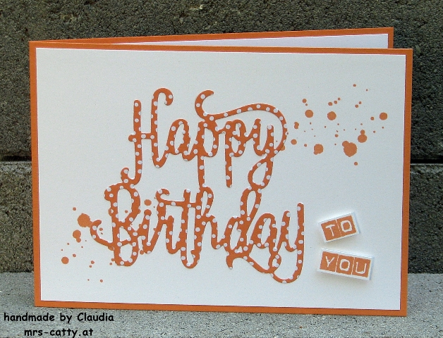 Geburtstag, Karte, Happy Birthday, Labeler Alphabet, Stampin Up!