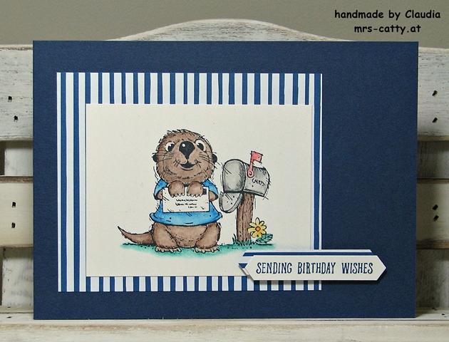 Geburtstag, Karte, Postcard Pals, Stampin`Up!