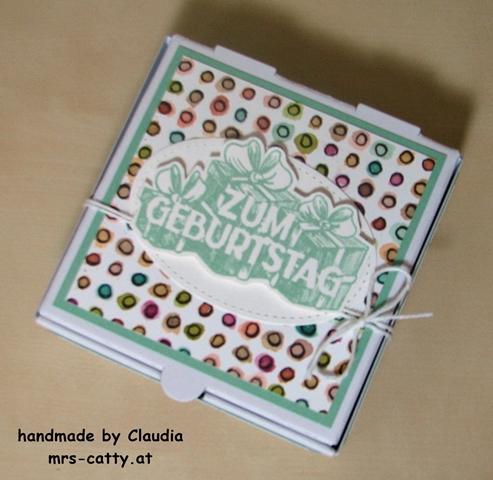 Geburtstag, Mini Pizza Box, Wunschparade, Stampin`UP! 2