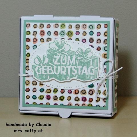 Geburtstag, Mini Pizza Box, Wunschparade, Stampin`UP! 3