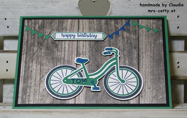 Geburtstag, Karte, Bike Ride, Happy Birthday Gorgeous, Stampin`Up! 1