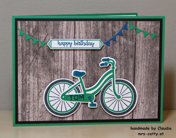 Geburtstag, Karte, Bike Ride, Happy Birthday GorgeousStampin`Up! 2
