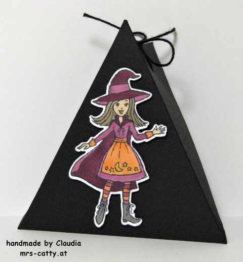 Halloween, Dreieckbox, Cauldron Bubble, Stampin`Up!