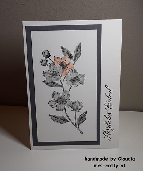 Karte, Trauer, Ewige Blüten, Stampin`Up!