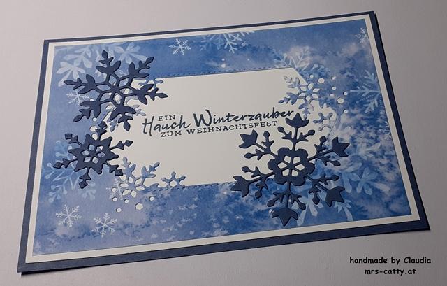 Karte, Weihnachten, Schneeflockenwünsche, Stampin`Up! 2