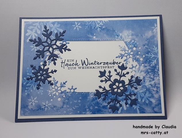 Karte, Weihnachten, Schneeflockenwünsche, Stampin`Up!