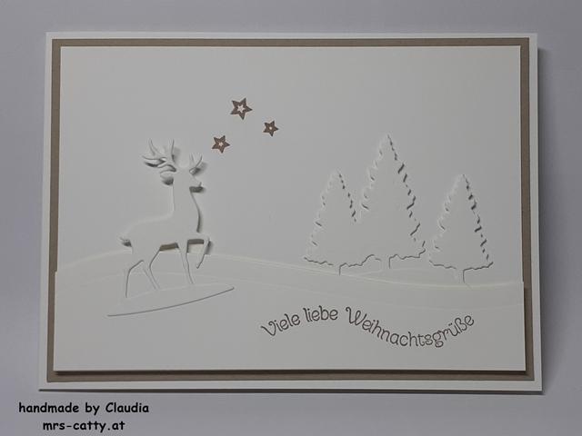 Karte, Weihnachten, Unser Zuhause, Schneekugel, Grüße im Glas, Weihnachtsmix, Stampin`Up! 2