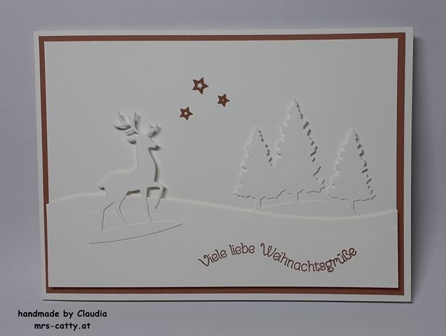 Karte, Weihnachten, Unser Zuhause, Schneekugel, Grüße im Glas, Weihnachtsmix, Stampin`Up!