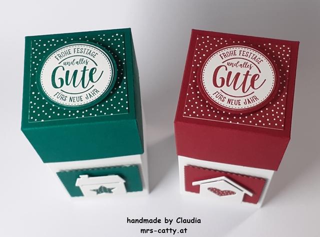 Verpackung, Weihnachten, Unser Zuhause, Weihnachtliche Grüße, Stampin`Up! 2