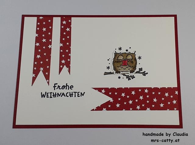 Weihnachten, Karte, Eulenfest, Stampin`Up! 2