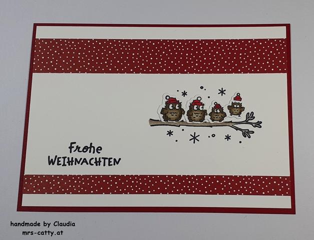 Weihnachten, Karte, Eulenfest, Stampin`Up!