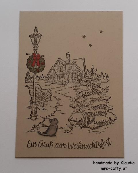 Weihnachten, Karte, Light me home, Geheimnisvoller Garten, Geschwungene Weihnachten, Stampin`Up!