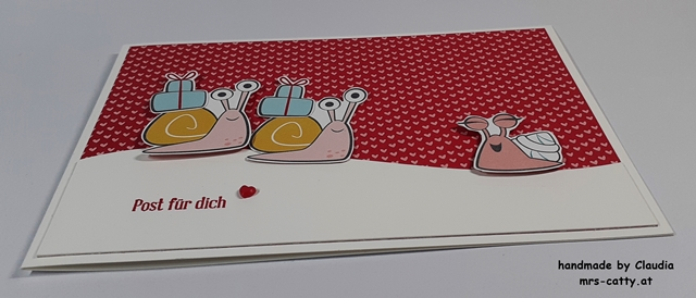 Geburtstag, Karte, DP Schneckenpost, Klitzekleine Grüße, Stampin`Up! 2