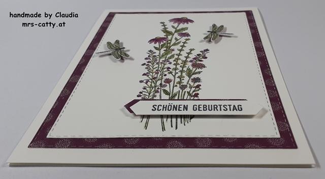 Geburtstag, Karte, Libellengarten, DP Löwenzahngarten, Klitzekleine Grüße, Stampin`Up! 2
