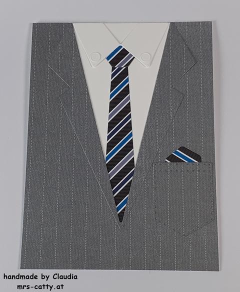Männerkarte, Anzug und Krawatte, DP Wie maßgeschneidert, Stampin` Up! 2