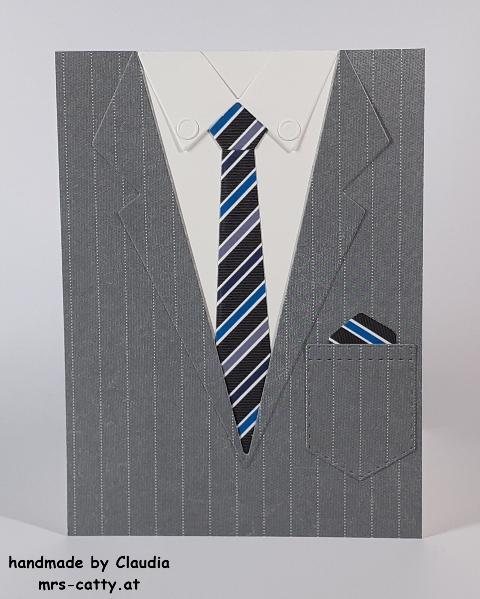 Männerkarte, Anzug und Krawatte, DP Wie maßgeschneidert, Stampin` Up!