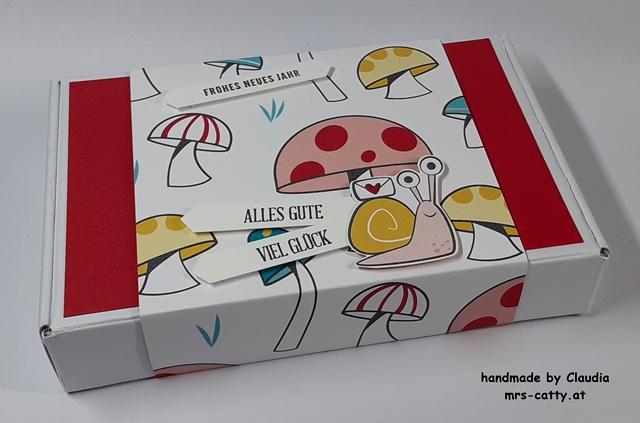 Verpackung, Paper Pumpkin - Minischachtel, DP Per Schneckenpost, Klitzekleine Grüße, Jahr voller Grüße, Stampin`Up! 2