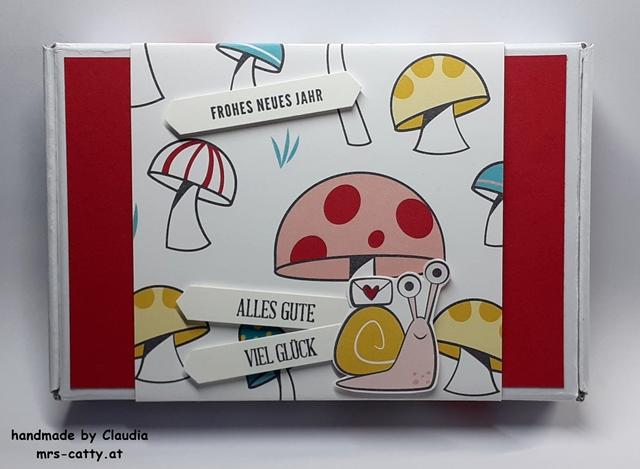 Verpackung, Paper Pumpkin - Minischachtel, DP Per Schneckenpost, Klitzekleine Grüße, Jahr voller Grüße, Stampin`Up!