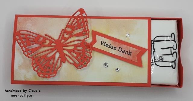 Verpackung, Tatü, Fabelhafte Falter, DP Schmetterlingsschmuck, Klitzekleine Grüße, Stampin`Up! 2