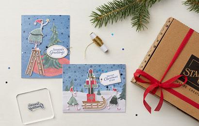 """Kartenset """"Verspielte Weihnachten"""""""